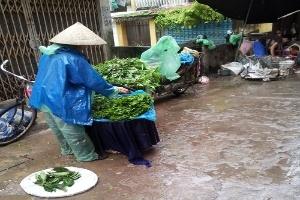 Mưa bão, thực phẩm tăng giá gấp 2 -3 lần