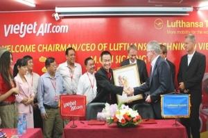 VietJetAir và Lufthansa Technik ký kết hợp tác