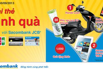 Cơ hội trúng xe Honda Lead khi thanh toán qua thẻ Sacombank JCB