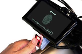 Greyp G-12 - Mô tô điện nhận diện người lái bằng vân tay