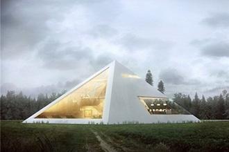 Thiết kế nhà hoành tráng, hiện đại theo hình kim tự tháp