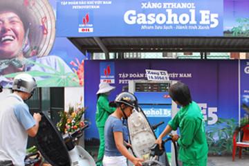 Tháng 12/2014, thí điểm sử dụng xăng sinh học tại 7 tỉnh, thành phố