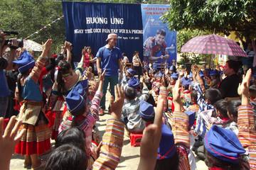 Lào Cai: Học sinh tham gia Ngày hội rửa tay bằng xà phòng