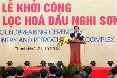 Thủ tướng phát lệnh khởi công Liên hợp Lọc hoá dầu Nghi Sơn