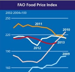 Giá lương thực toàn cầu tăng lần đầu tiên kể từ tháng 4