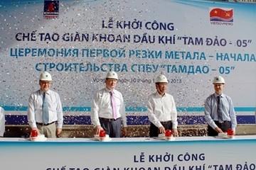 Khởi công chế tạo giàn khoan tự nâng lớn nhất Việt Nam