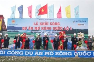 Khởi công mở rộng 29 km quốc lộ 1 qua Quảng Nam