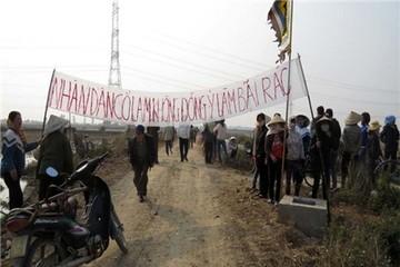 Dự án khu xử lý chất thải rắn sinh hoạt xã Bình Định: Người dân không đồng thuận
