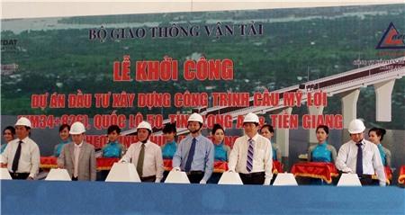 Gần 1.500 tỷ đồng xây cầu nối Tiền Giang-Long An-TP.HCM