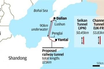 Trung Quốc tính làm đường hầm dưới biển dài nhất thế giới