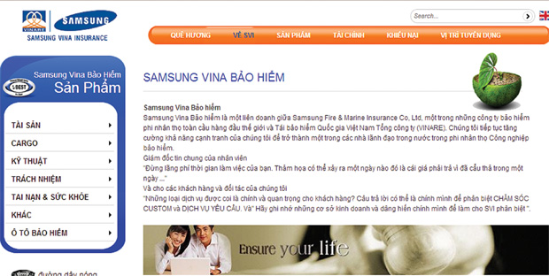 Vinare giảm tỷ lệ sở hữu tại Samsung Vina