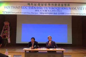 Quảng Nam muốn phát triển khu công nghiệp riêng cho nhà đầu tư Hàn Quốc
