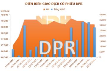 DPR: Dẫn đầu ngành về năng suất vườn cây cao su 5 năm liền