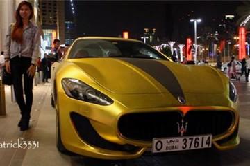 Cận cảnh Maserati GranTurismo bọc vàng, đính pha lê