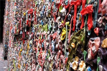 Bức tường bã kẹo cao su nổi tiếng đất Mỹ