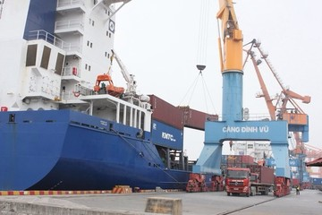 Cảng Hải Phòng ùn tắc do việc cân kiểm soát tải trọng xe