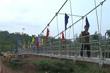 Điện Biên: Khánh thành cầu treo Sam Lang