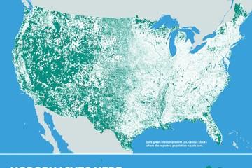 47% diện tích nước Mỹ hoàn toàn không có cư dân sinh sống
