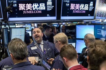 Chứng khoán Phố Wall tăng; cổ phiếu internet, công nghệ sinh học thúc đẩy