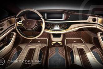 Carlex Design mạ vàng Mercedes-Benz S-Class 2014