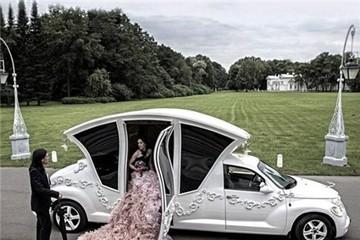 Chiếc limo khác lạ và độc đáo phong cách xe cưới