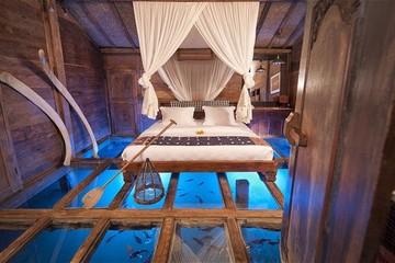 Độc đáo khách sạn giữa...ao tôm trên đảo Bali