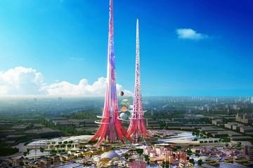 Xuất hiện hình ảnh tòa tháp đôi cao nhất thế giới
