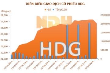 HDG: Chủ tịch HĐQT đã mua 5,6 triệu cổ phiếu, nắm giữ 34,88% vốn