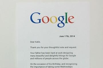 Con gái nhân viên Google viết thư xin nghỉ phép cho bố