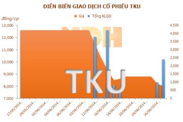 TKU: 16/7 ĐKCC trả cổ tức năm 2013 bằng tiền mặt và bằng cổ phiếu