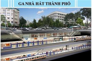 Hình ảnh nhà ga ngầm tuyến Metro số 1 ở Sài Gòn