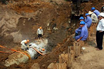 Hà Nội xây tăng thêm tuyến ống nước 80.000m3