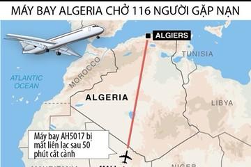 [ĐỒ HỌA] Hành trình máy bay Air Algerie gặp nạn