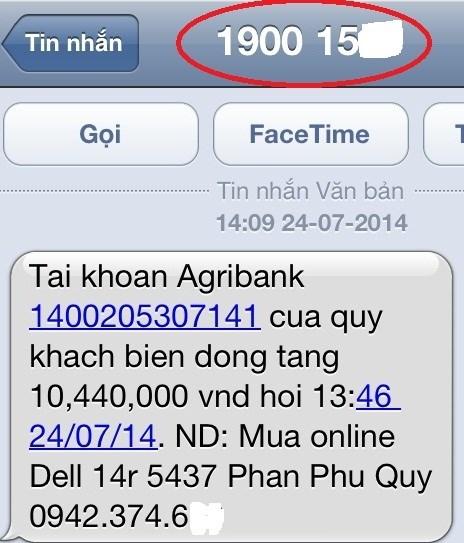 Cảnh báo chiêu giả tin nhắn chuyển khoản ngân hàng để lừa đảo