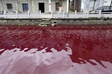 'Sốc' với những hình ảnh về ô nhiễm nguồn nước tại Trung Quốc
