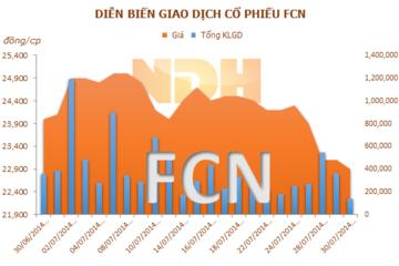 FCN (mẹ): 6 tháng lãi gần 37 tỷ đồng, giảm 32,4% cùng kỳ