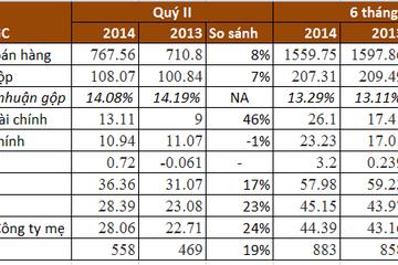 PGC: Quý 2/2014 lãi ròng 28 tỷ đồng, tăng 24% so với cùng kỳ