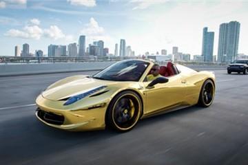 Ferrari 458 Spider dát vàng của vận động viên bóng chày