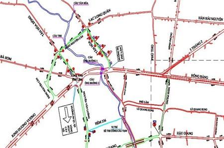 TPHCM: đường đến bến xe miền Tây kẹt cứng vì không có cầu tạm