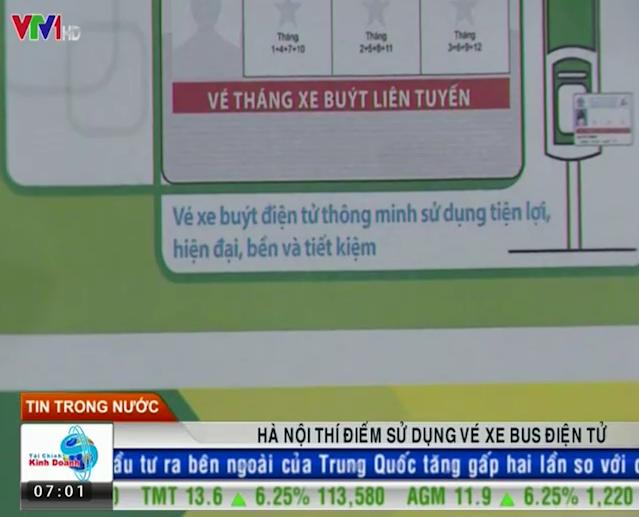Hà Nội thí điểm vé xe bus điện tử