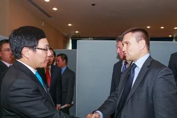 Phó Thủ tướng Phạm Bình Minh tiếp tục các cuộc gặp song phương