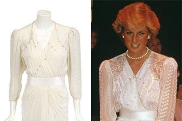 Đấu giá hàng loạt váy của công nương Diana