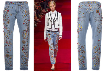 Chơi sang với quần jean nạm tinh thể Swarovski của Dolce & Gabbana trị giá 12.500 USD.