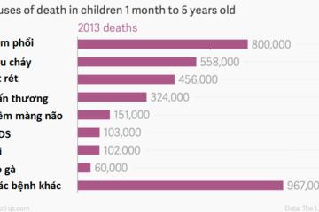 Những nguyên nhân hàng đầu dẫn đến tử vong ở trẻ em