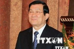 Chủ tịch nước Trương Tấn Sang tới Trung Quốc dự Hội nghị APEC