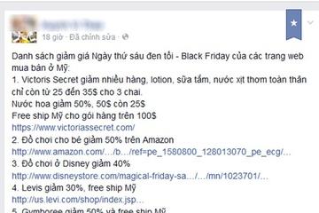 Người Việt chi tiền triệu đặt hàng ngày 'thứ sáu đen' của Mỹ