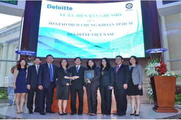 Sở GDCK Tp. HCM ký Biên bản Ghi nhớ với Deloitle về lĩnh vực rủi ro
