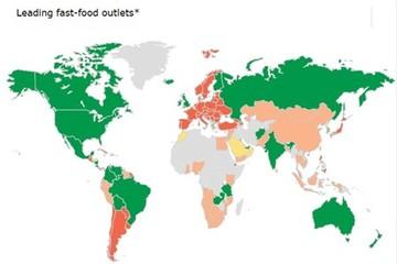 [Chart] Bản đồ ngành thức ăn nhanh thế giới