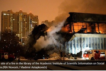 Cháy lớn ở thư viện Moscow, hàng triệu tài liệu quý bị thiêu rụi