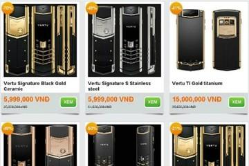 Điện thoại nhái Vertu rao giá từ 1 đến 20 triệu đồng
